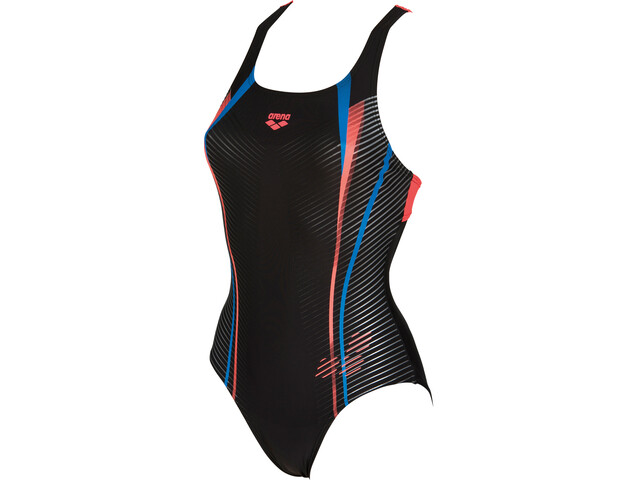 arena Roy Swim Pro Back One Piece Swimsuit Dames, black-shiny pink